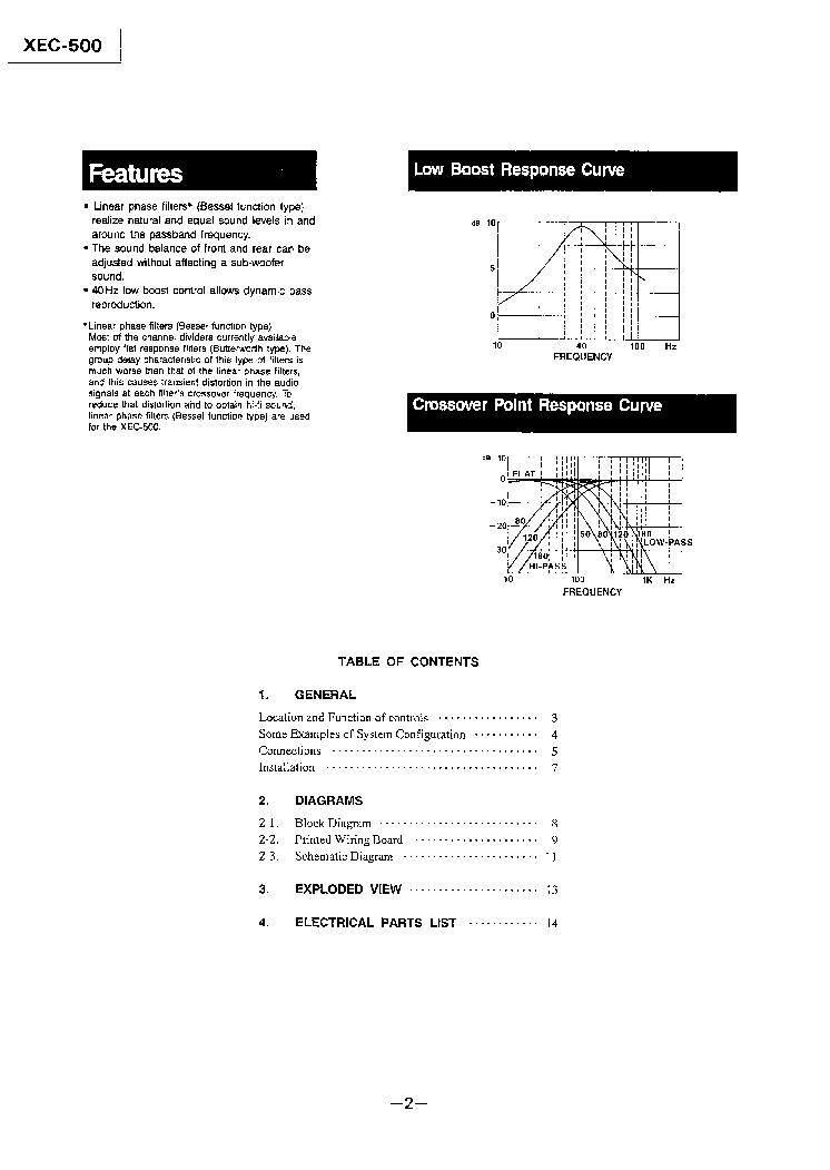 SONY XEC-500 SM Service Manual download, schematics