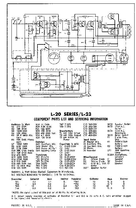 SOUNDCRAFT L23 SCH Service Manual download, schematics
