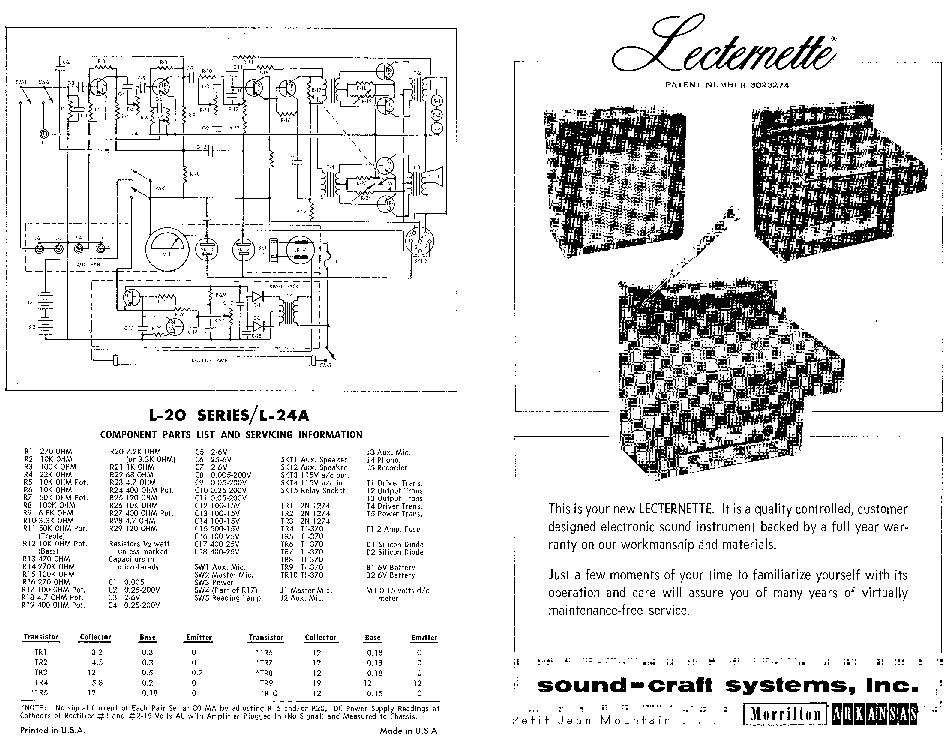 SOUNDCRAFT L24A SCH Service Manual download, schematics