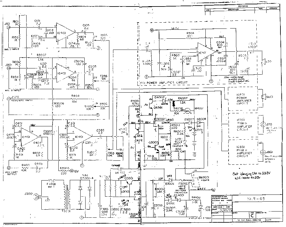 SOUNDCRAFT SLR45 SCH Service Manual download, schematics