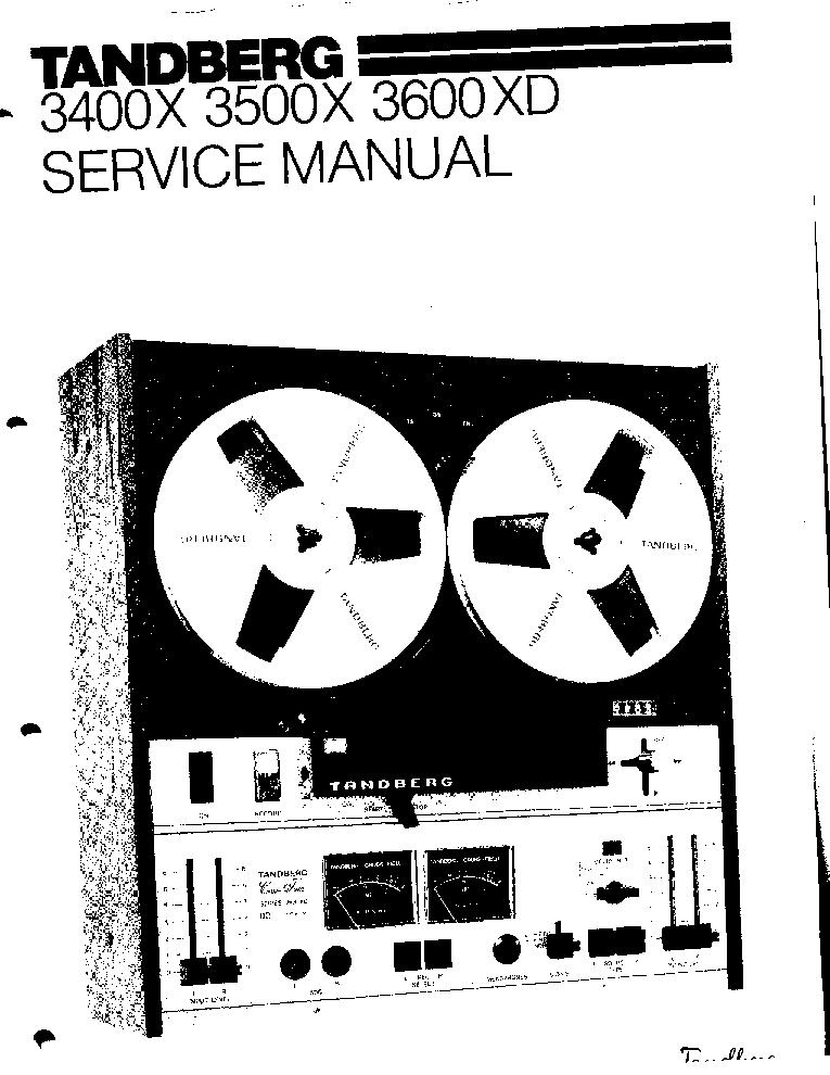 TANDBERG 3400X 3500X 3600XD TAPE RECORDER 1977 SM Service