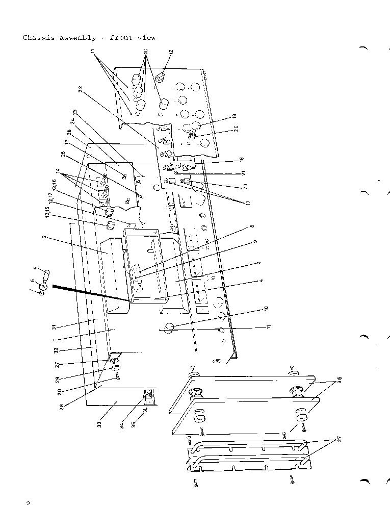 TANDBERG TCD-3004 ILLUSTRATED PARTS LIST 1981 SM Service