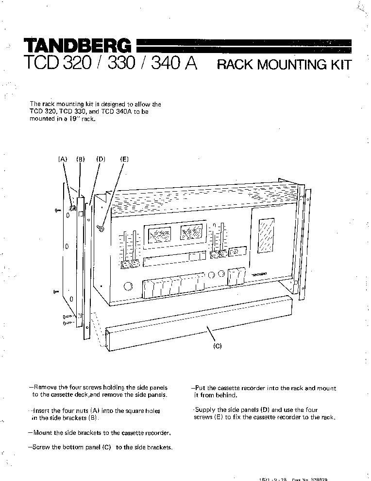 TANDBERG TR-200 Service Manual free download, schematics