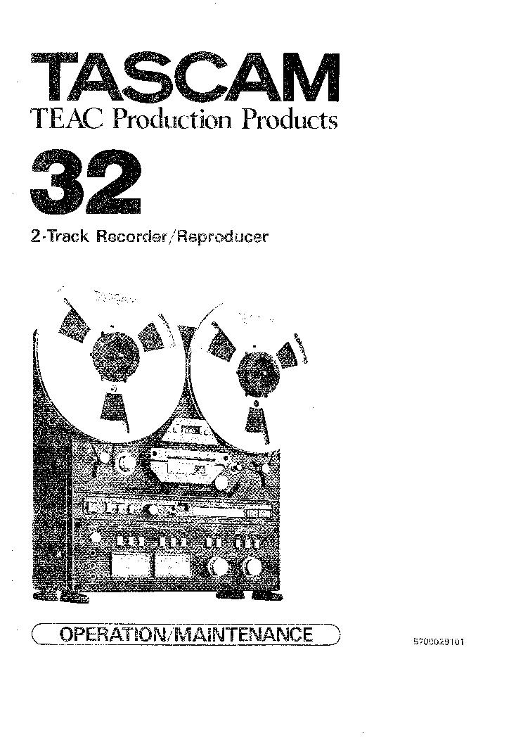 TASCAM 32 SM Service Manual download, schematics, eeprom