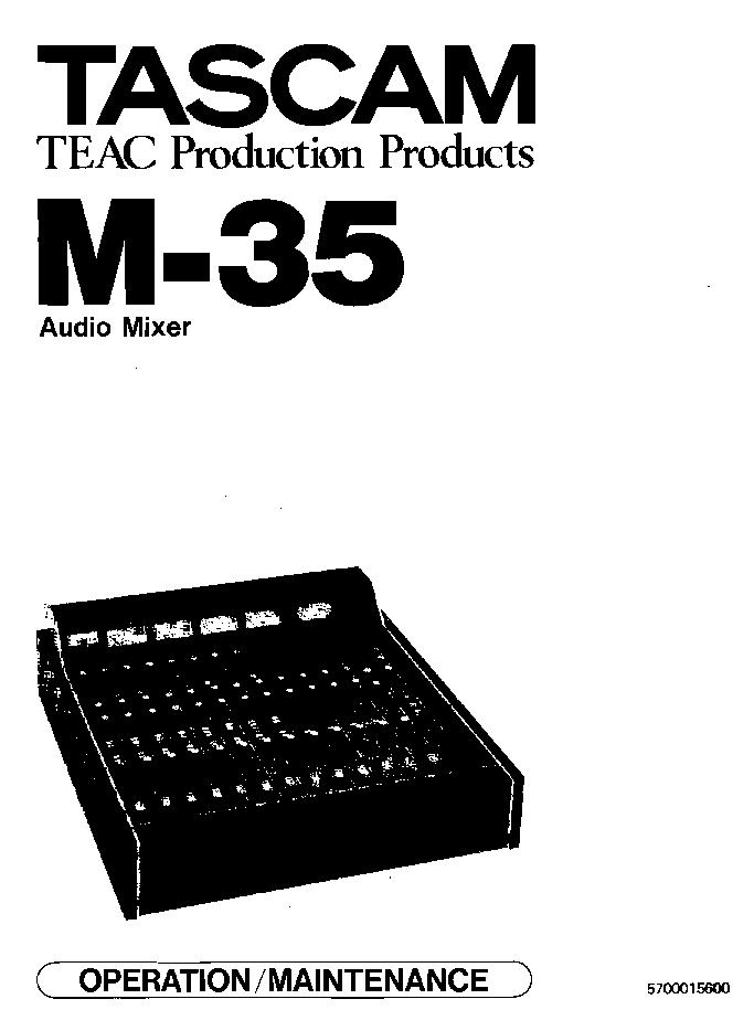 TASCAM M35 M-35 MM Service Manual download, schematics