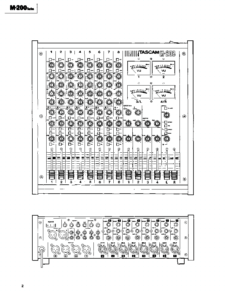 TASCAM TEAC M-200 SERIES MIXING CONSOLE Service Manual