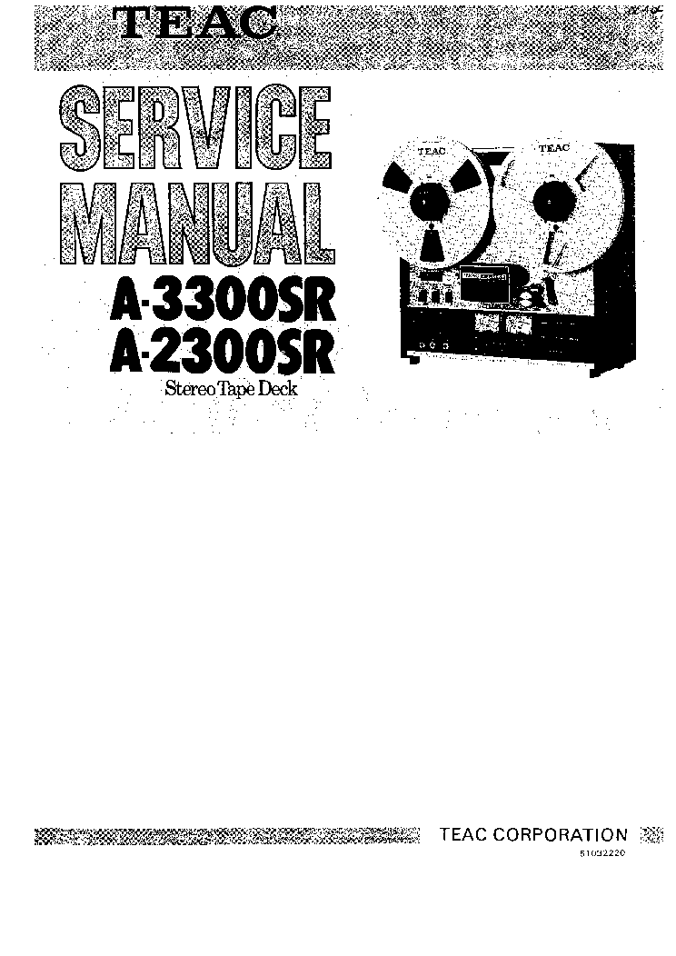 TEAC A-2300SR 3300SR SM Service Manual download