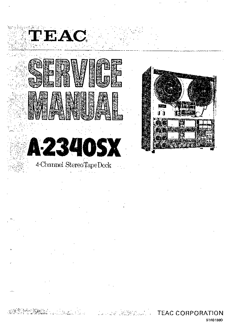 TEAC V-3000 SM Service Manual download, schematics, eeprom