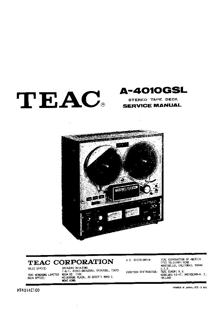 TEAC T-H380 SCH Service Manual download, schematics