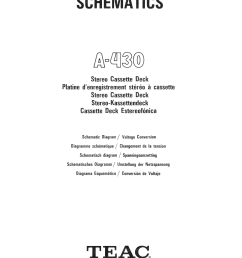 teac a 430 schematic service manual 2nd page  [ 2500 x 3423 Pixel ]