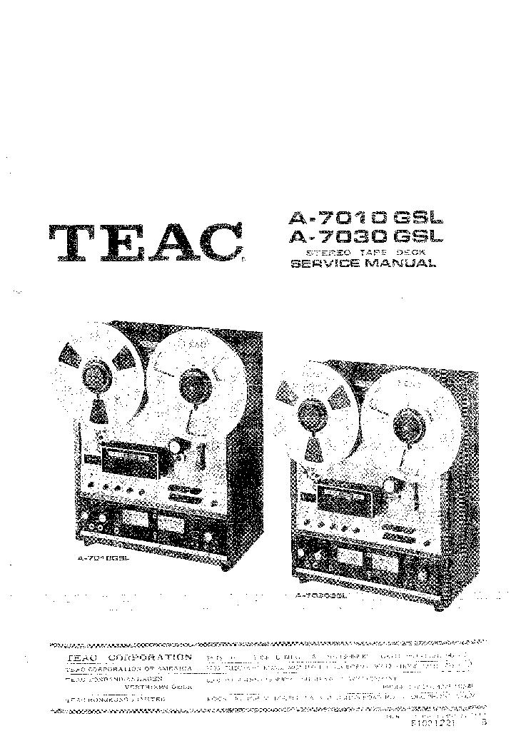 TEAC A-7010GSL A-7030GSL Service Manual download