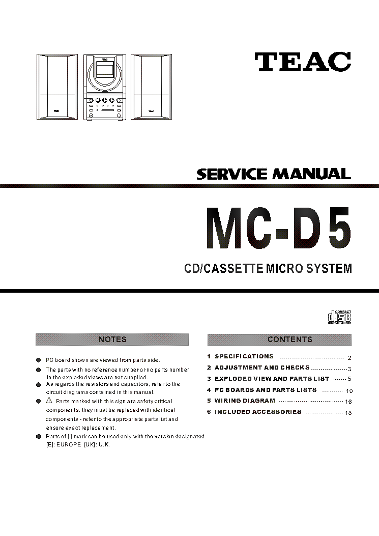 TEAC AG-7D-AG-15D Service Manual free download, schematics