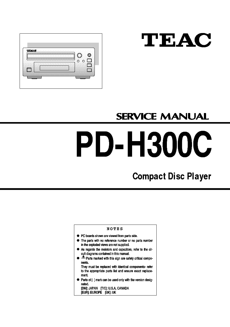 TEAC PD-H300C SM Service Manual download, schematics