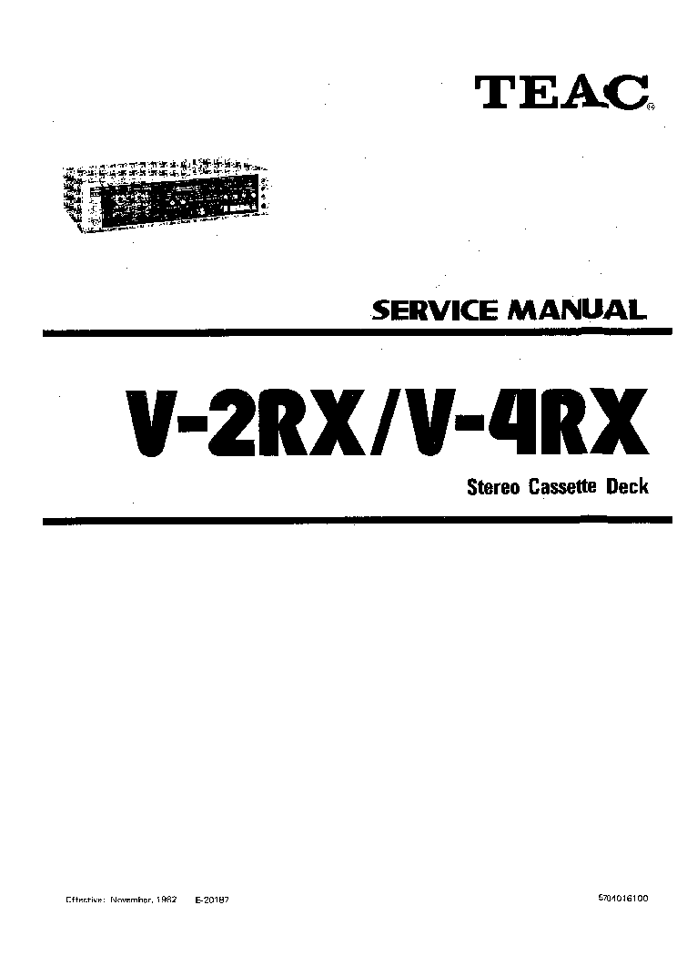 TEAC V-2RX 4RX SM Service Manual download, schematics
