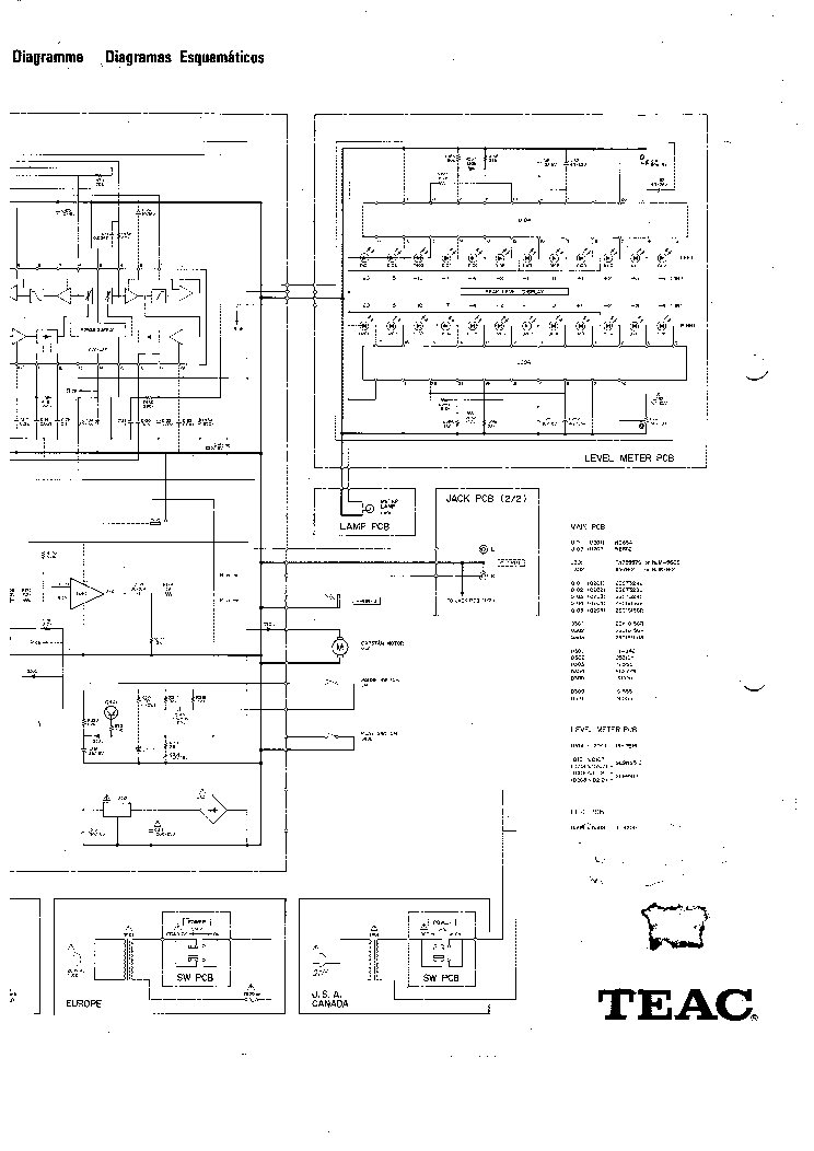 TEAC V-44C Service Manual download, schematics, eeprom
