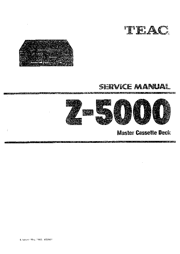 TEAC Z-5000 SERVICE Service Manual download, schematics