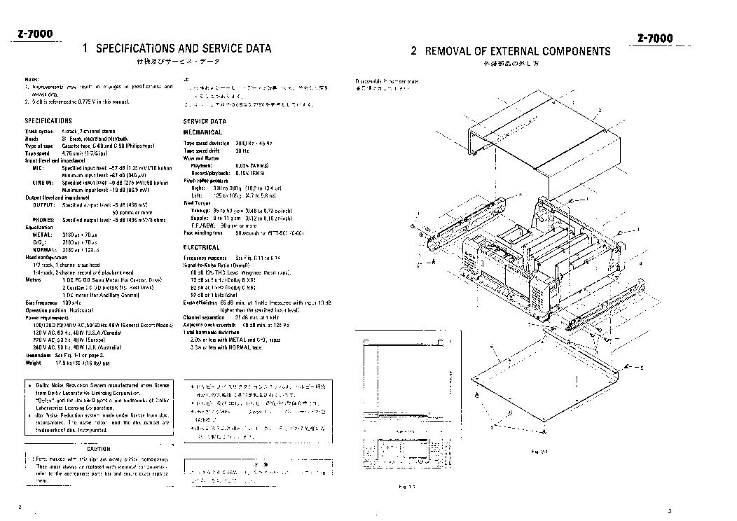 TEAC Z-7000 SM Service Manual download, schematics, eeprom