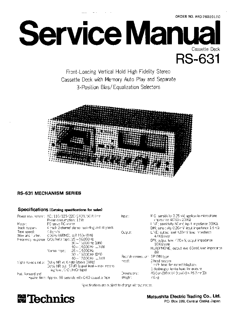 TECHNICS SU-Z25 Service Manual free download, schematics
