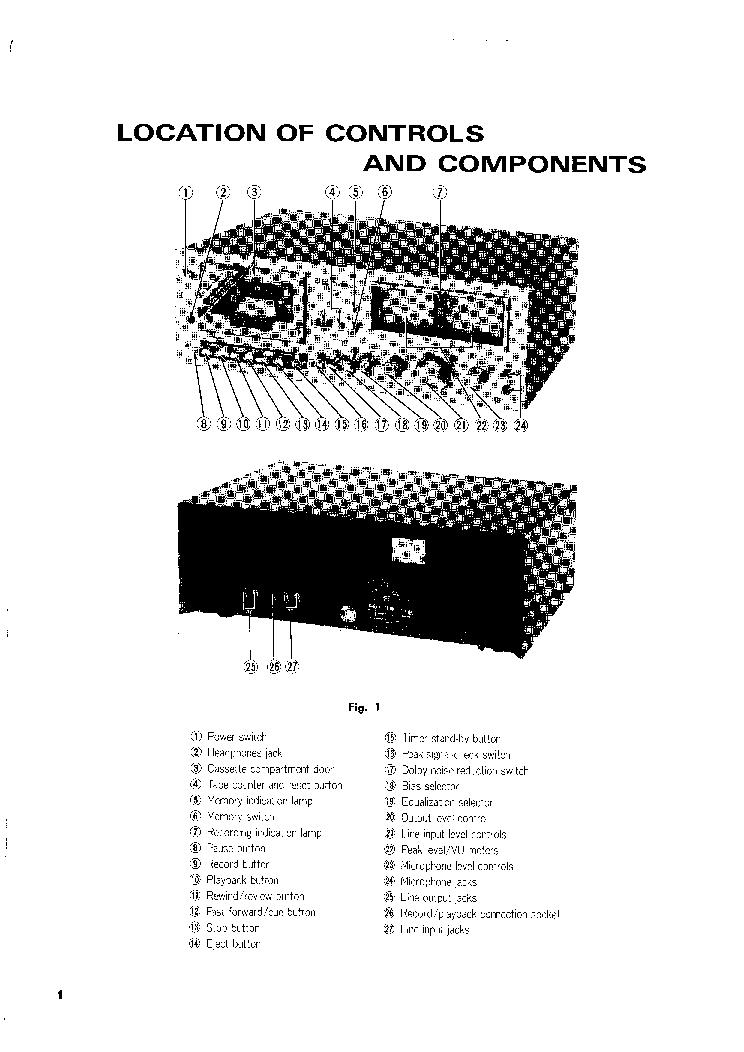 TECHNICS RS-631 Service Manual download, schematics