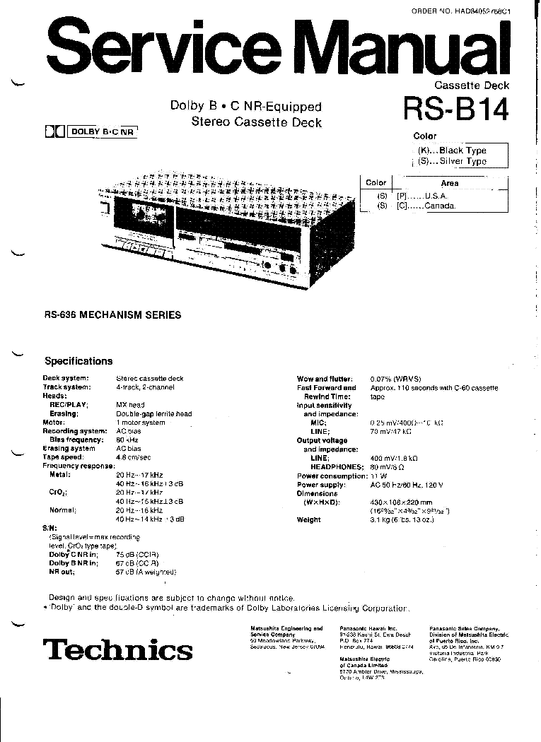 TECHNICS SA-AX730 Service Manual free download, schematics