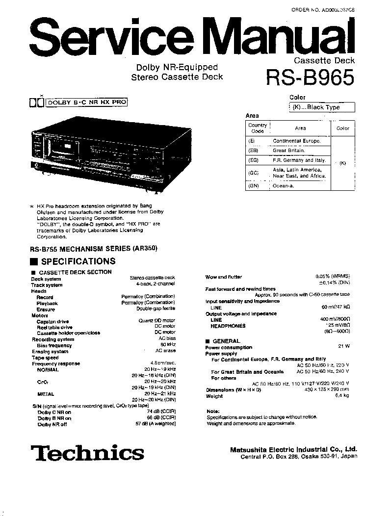 TECHNICS SU-8099 SCH Service Manual free download