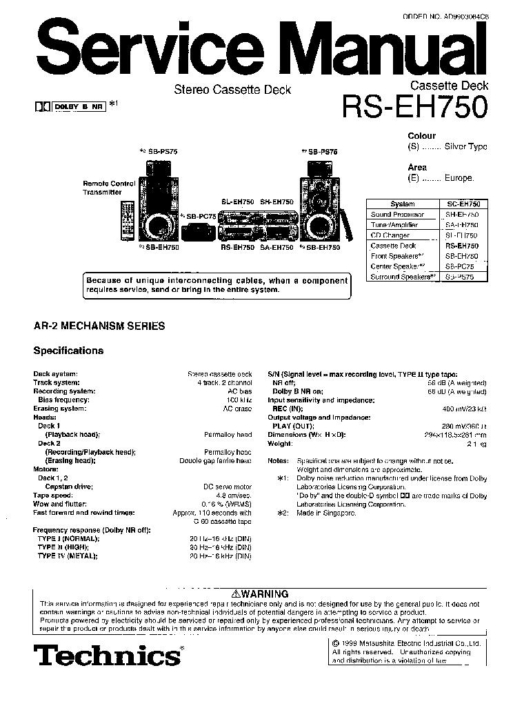 TECHNICS SL-1200-MK2 SM Service Manual download