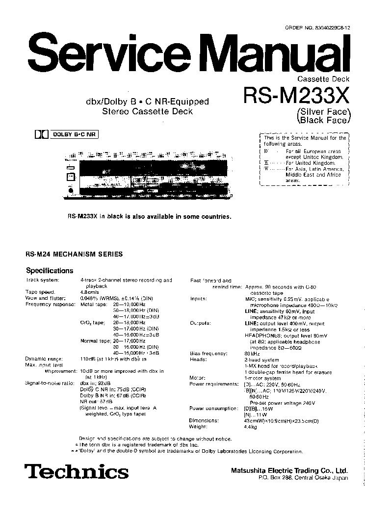 TECHNICS SU-A800 Service Manual free download, schematics
