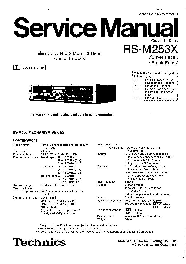 TECHNICS SL-1300MK2 SE Service Manual download, schematics