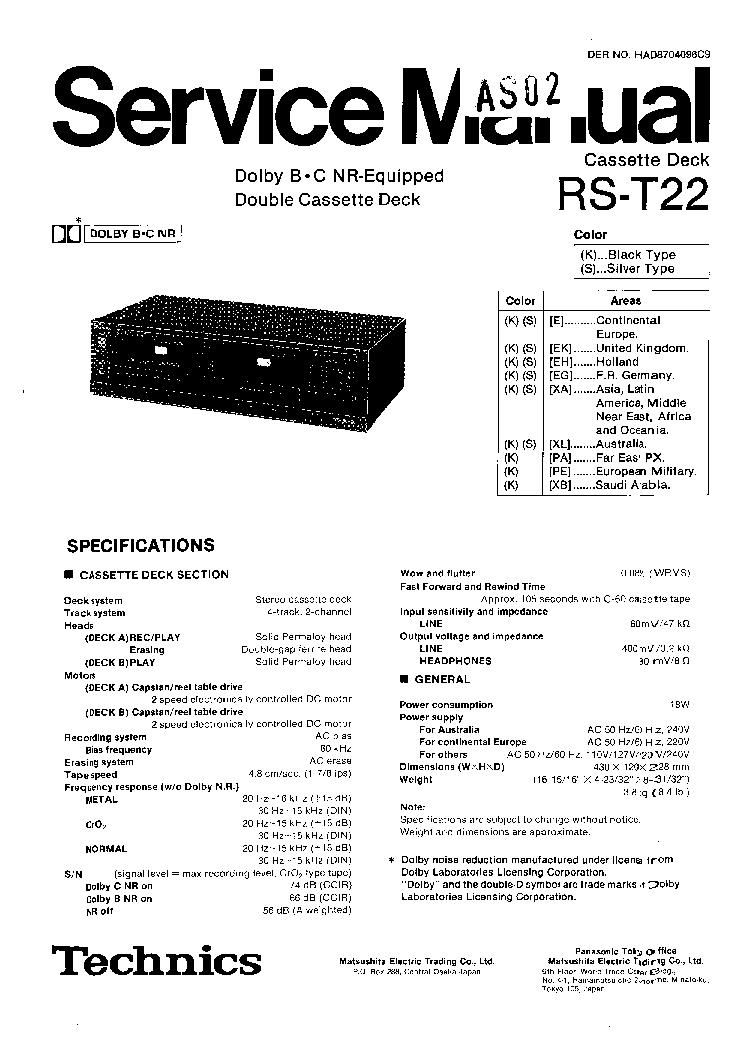 TECHNICS SU-300 SM Service Manual free download