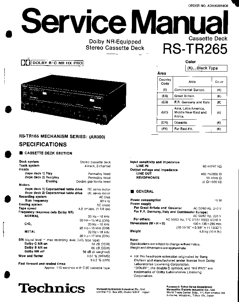 TECHNICS SL-P990 Service Manual download, schematics