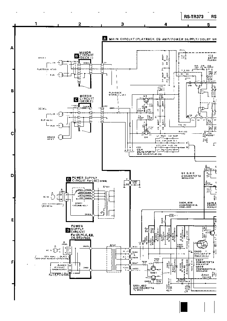 TECHNICS RS-TR373 SCH Service Manual download, schematics