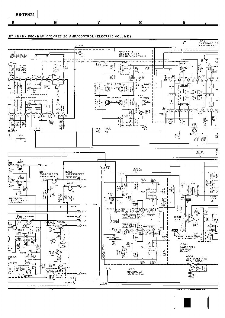 TECHNICS RS-TR474 Service Manual download, schematics