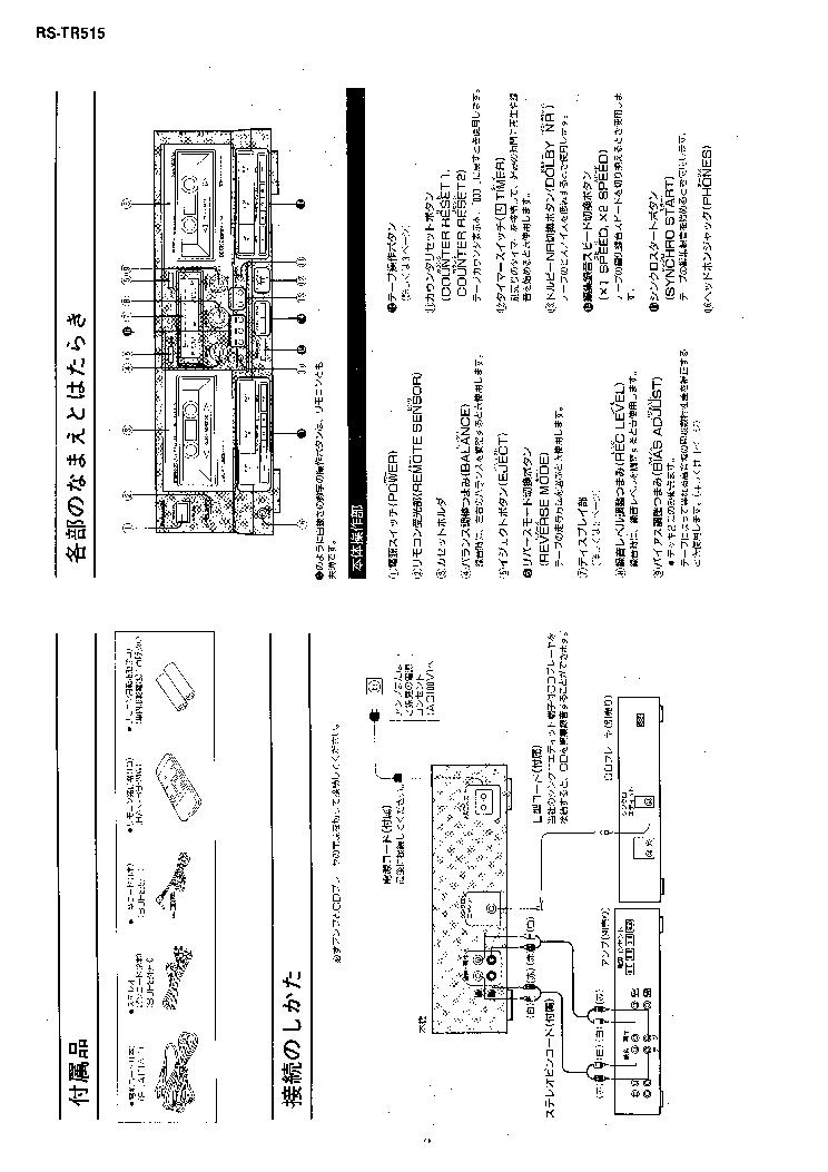 TECHNICS RS-TR515 SM JP Service Manual download
