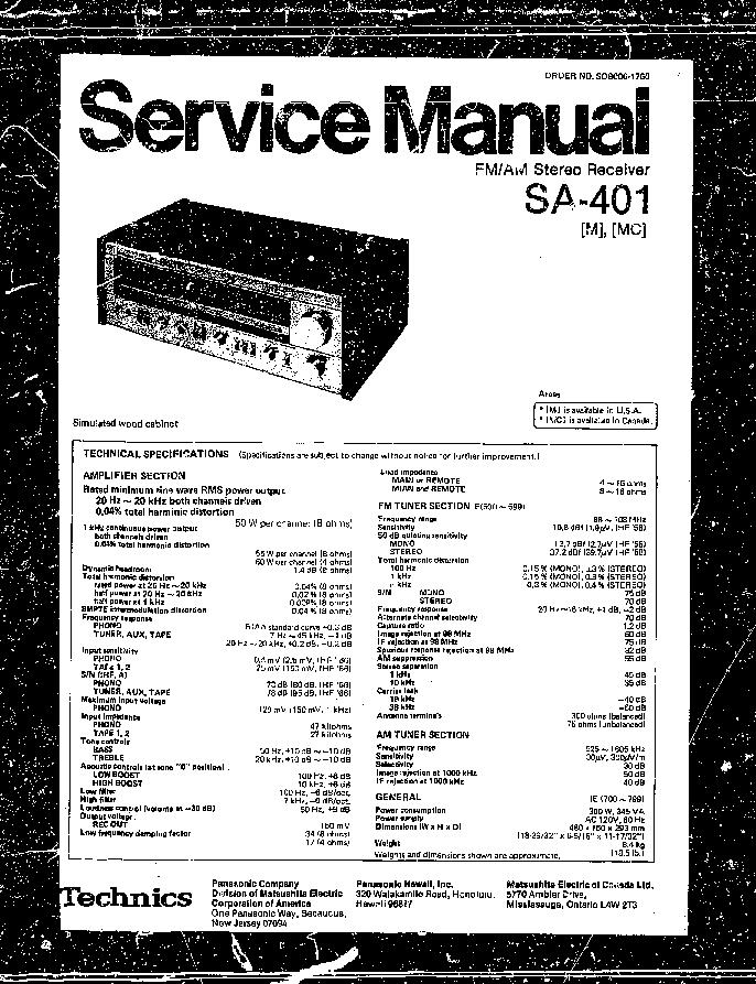 TECHNICS SE-HD51 Service Manual download, schematics