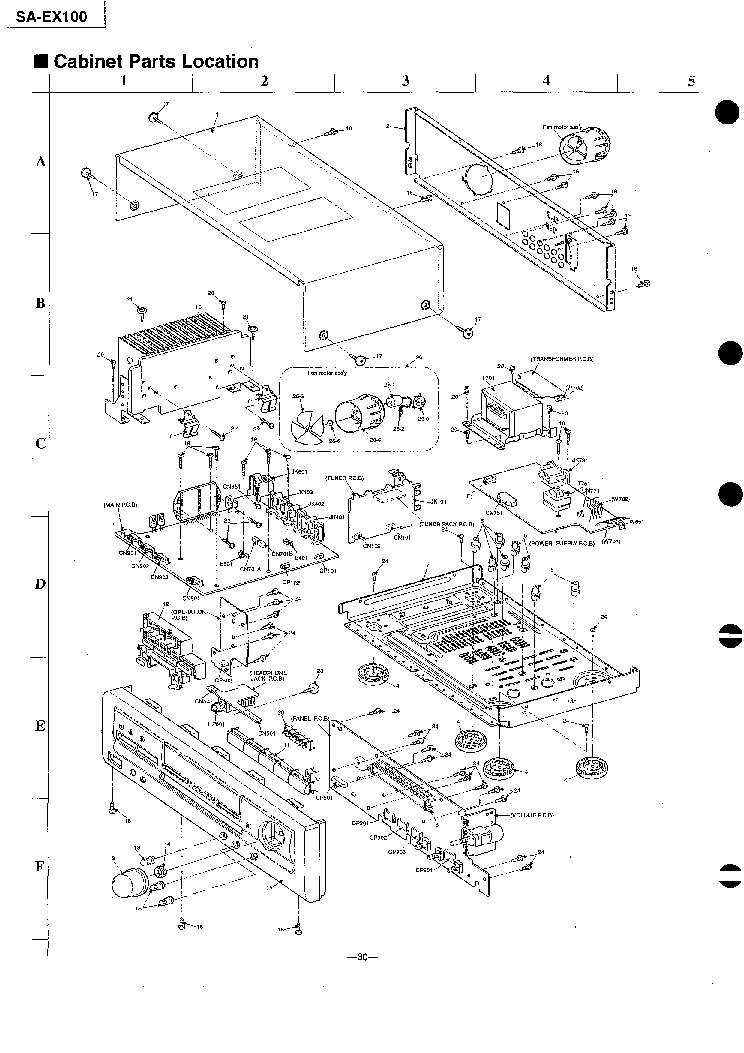 TECHNICS SA-EX100 MECHA PARTS Service Manual download