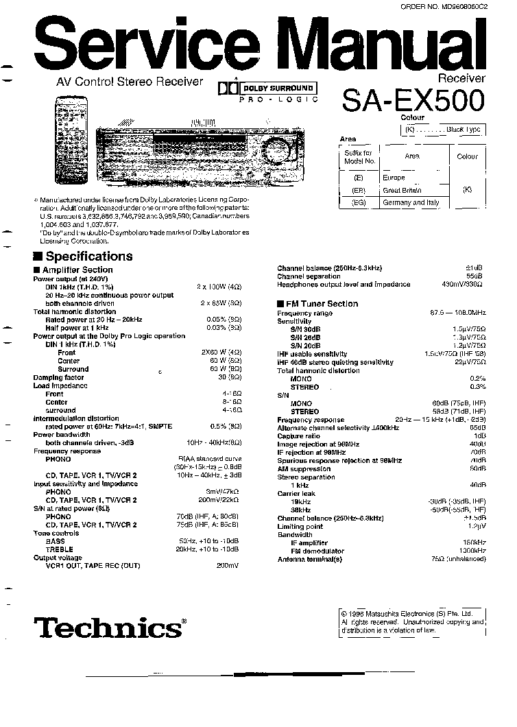 TECHNICS SL-PG440A Service Manual free download