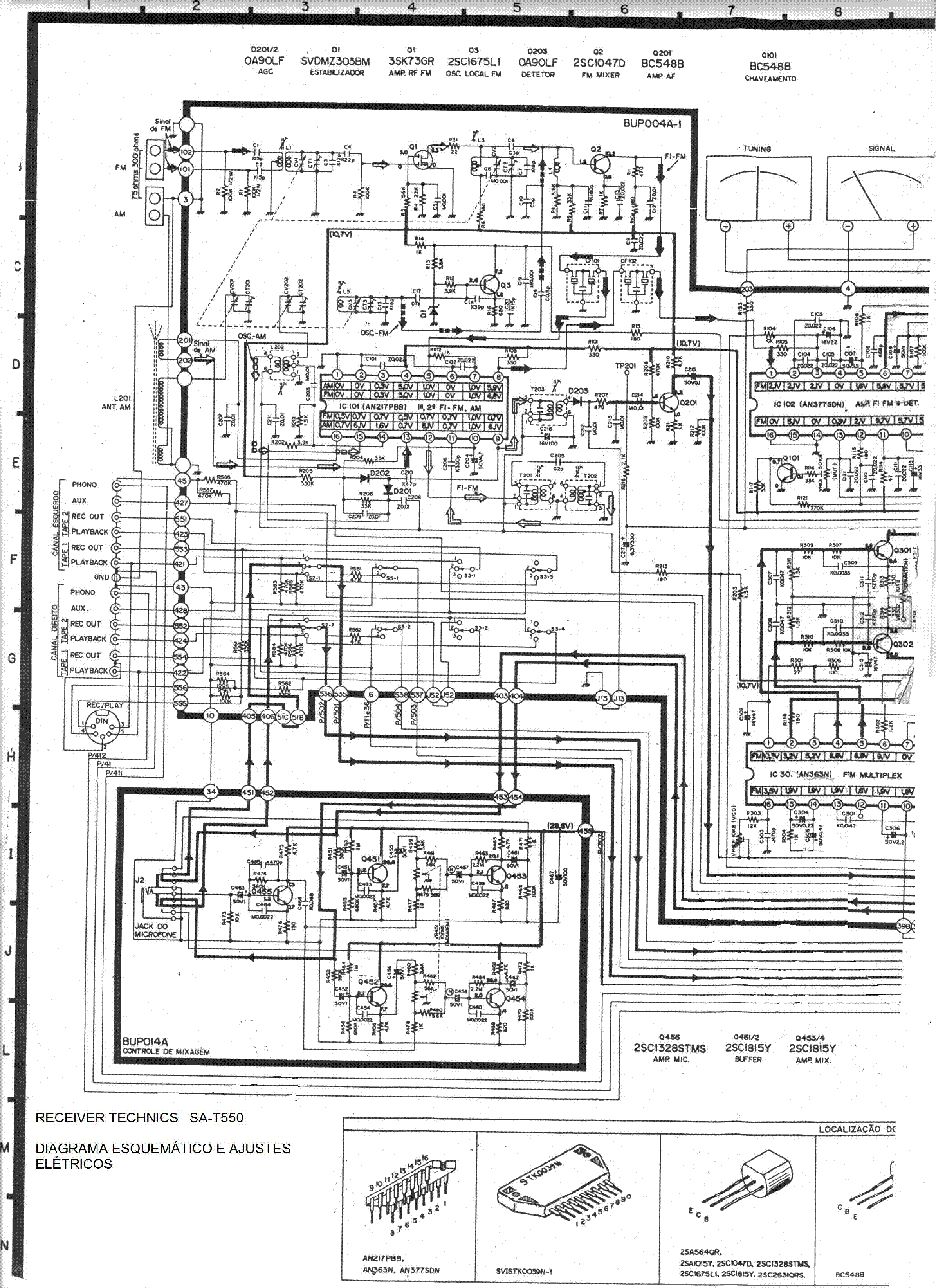 TECHNICS SA-T550 SCH Service Manual download, schematics
