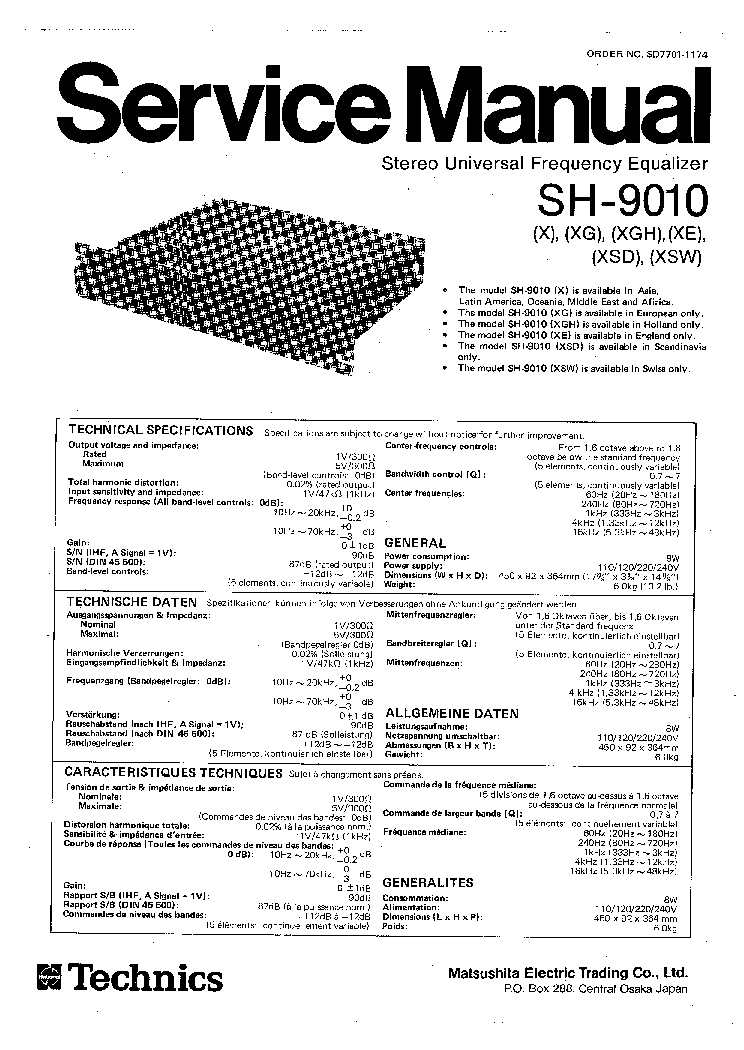 TECHNICS SA-EH750 Service Manual free download, schematics