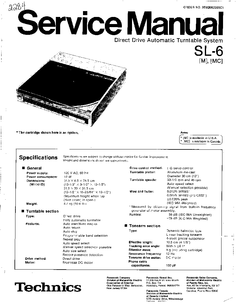 TECHNICS SA-DA10 Service Manual free download, schematics