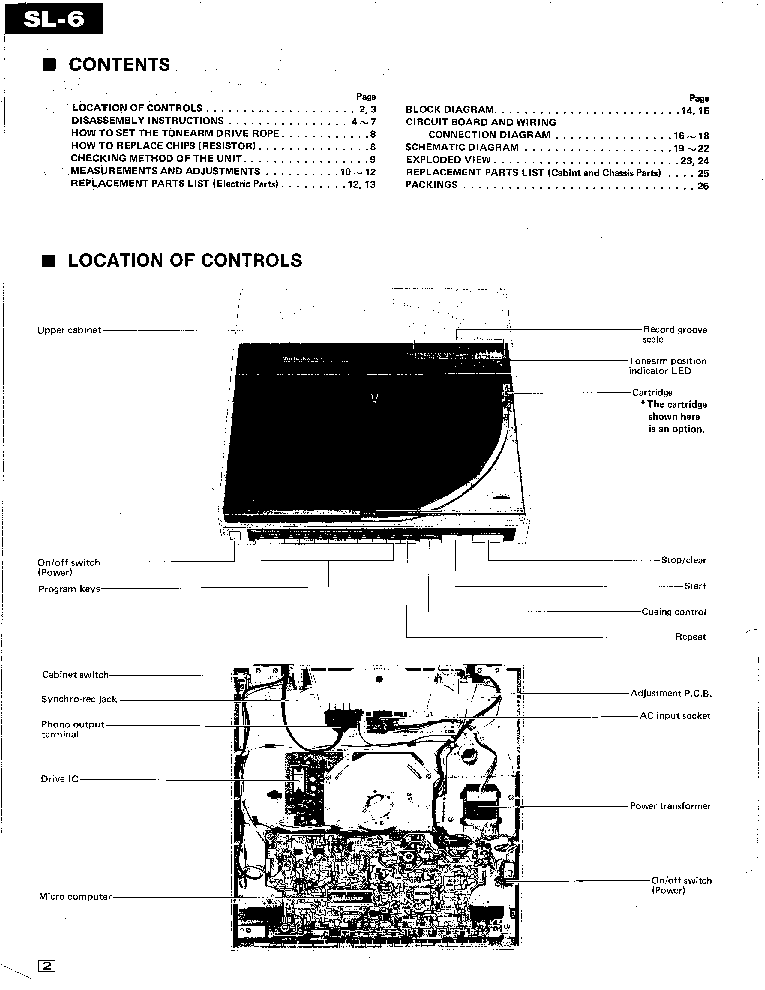 TECHNICS SL-6 TURNTABLE Service Manual download