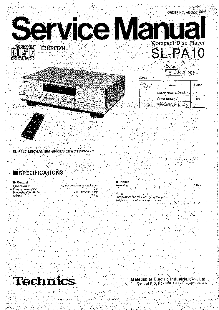 TECHNICS SA-DX750 Service Manual free download, schematics
