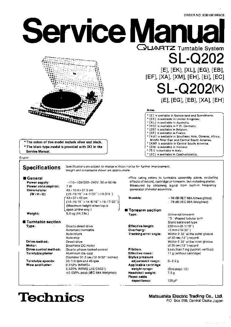 TECHNICS SA-5160 Service Manual free download, schematics