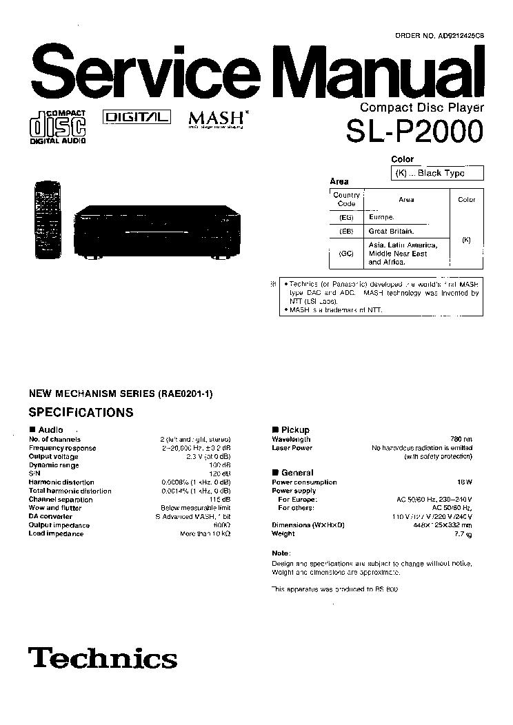 TECHNICS SU-CH7 SM Service Manual free download
