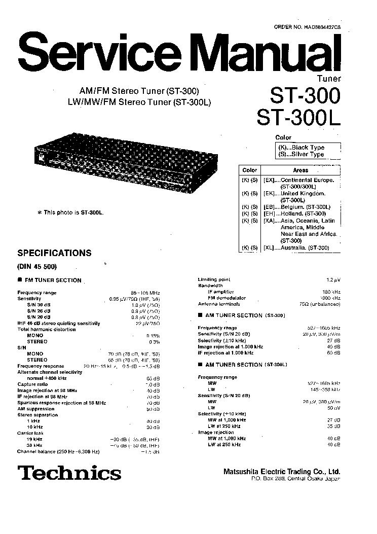 TECHNICS RS-B755 SM Service Manual free download