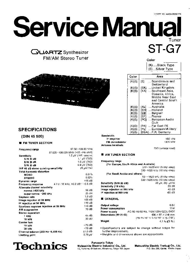 TECHNICS SA-GX910 Service Manual download, schematics
