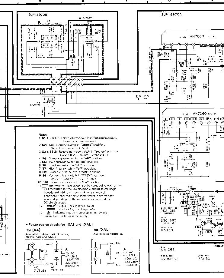 TECHNICS SU-Z2 SCH 1 Service Manual download, schematics