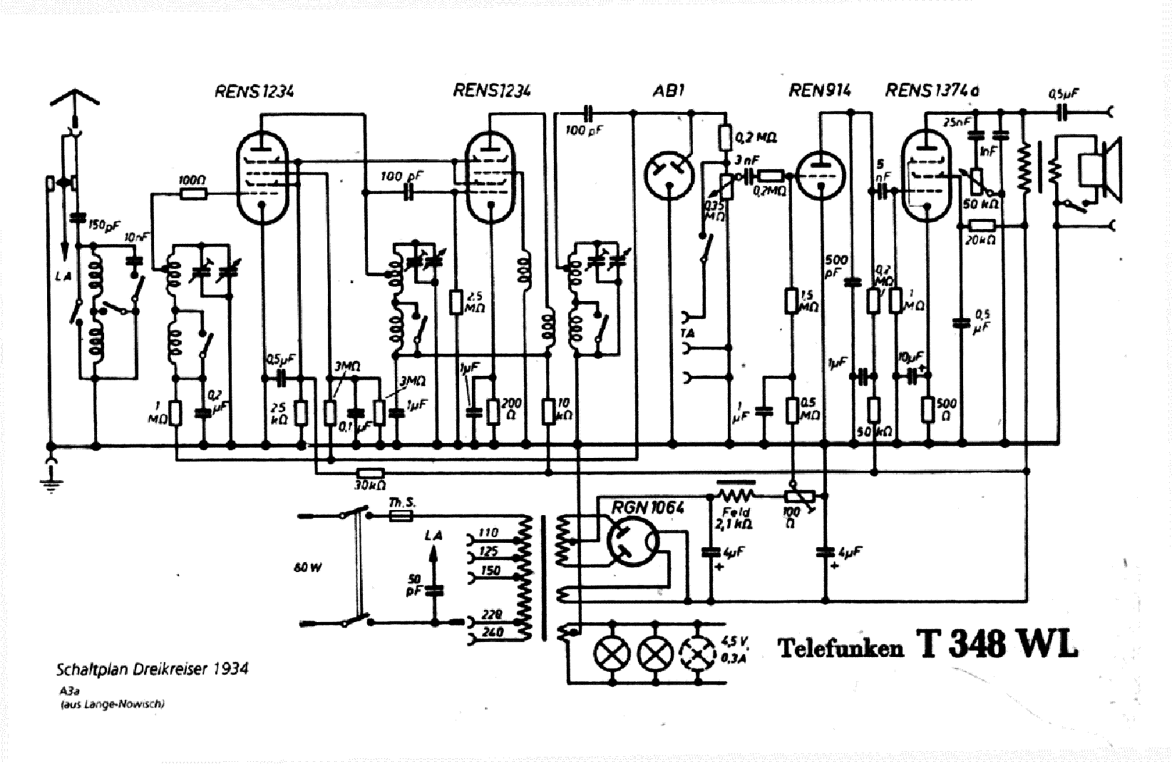 Telefunken 340 W Service Manual Download Schematics