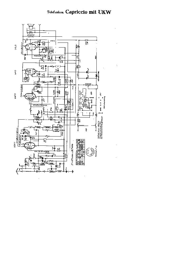 TELEFUNKEN CAPRICCIO 50 WITH UHF AC-DC RADIO SCH Service