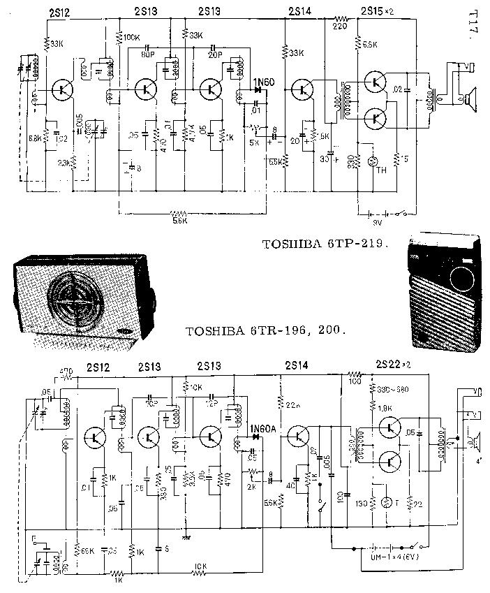 TOSHIBA 6TR-196 6TR-200 6TP-219 SCH Service Manual