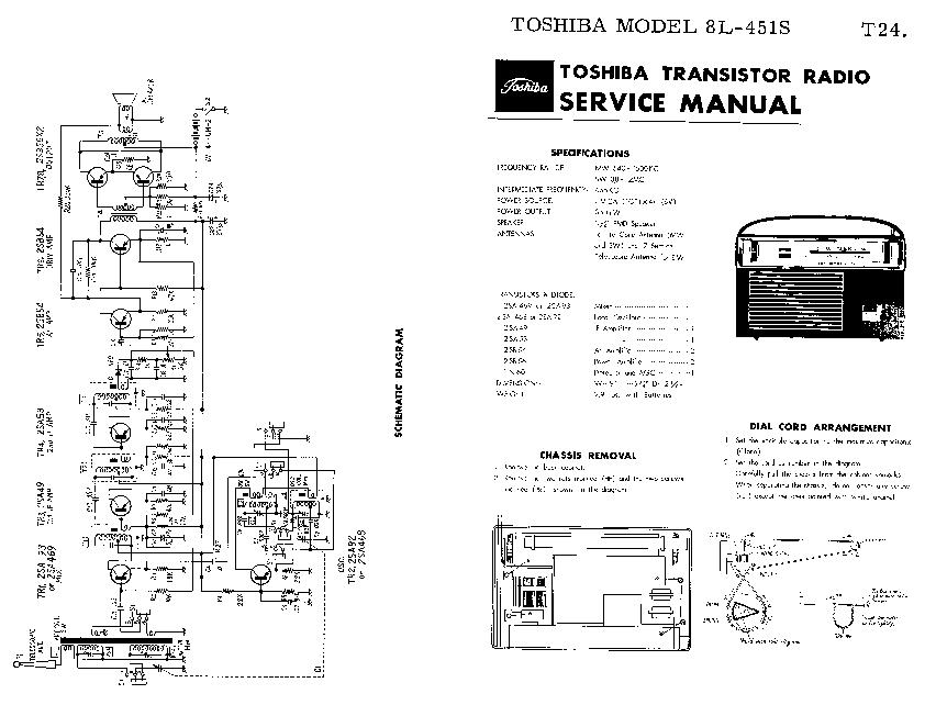 TOSHIBA 8L-451S SM Service Manual download, schematics
